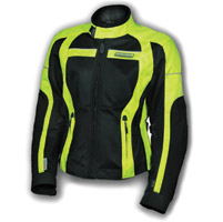 Olympia Moto Sports Ladies Neon-Yellow Switchback Mesh Tech Jacket
