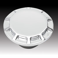 Carl Brouhard Designs Chrome Dummy Snap-In Straight-Cut Gas Cap