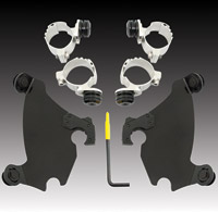 Memphis Shades Gauntlet Fairing Black Trigger Lock Mount Kit