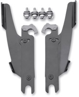 Memphis Shades Batwing Fairing and Fats/Slims Black Trigger-Lock Mount Kit - Models Without Lightbar