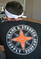 Crank & Stroker Supply Men's Star Short Black T-Shirt