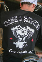 Crank & Stroker Supply Men's All Motor Black T-Shirt