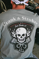 Crank & Stroker Supply Men's Gray Piston Gray T-shirt