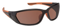 BANGERZ Baffle Matte Black and Orange Sunglasses