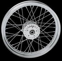 Laced Chrome Front Wheel, 19