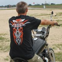 J&P Cycles® Old School Black Short-Sleeve Pinstripe T-Shirt
