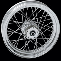 Laced Chrome Front Wheel, 16