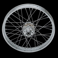 Laced Chrome Front Wheel, 21