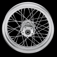 Laced Chrome Rear Wheel, 16