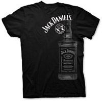 Jack Daniel's Large Bottle Black T-shirt