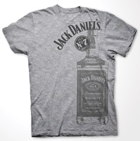 Jack Daniel's Gray Large Bottle T-shirt