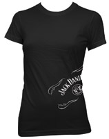 Jack Daniel's Black Side Scroll Short-Sleeve Babydoll T-shirt