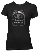 Jack Daniel's Black Foil Label Short-Sleeve Babydoll T-shirt