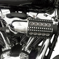D&M Custom Cycle Chrome Machine Gun Power Flow Air Cleaners