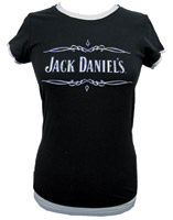 Jack Daniel's Women's Layered Scroll Babydoll T-shirt