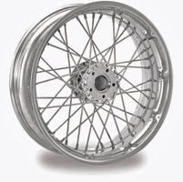 Performance Machine Spoked Wire Chrome Front Wheel, 23