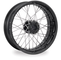 Performance Machine Spoked Wire Black Ops Front Wheel, 18