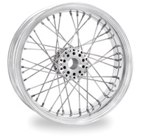 Performance Machine Merc Wire Chrome Rear Wheel, 18