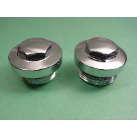 V-Twin Manufacturing Hex Head Primary Cover Filler Cap and Clutch Hole Cap