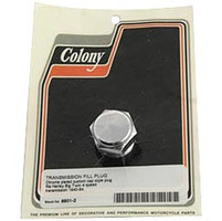 Colony Custom Chrome Transmission Filler Plug