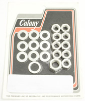 Colony Transmission Side Cover & Clutch Arm Nut Kit
