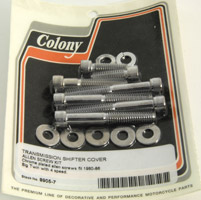 Colony Transmission Top Cover Chrome Allen Screw Set