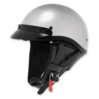 Skid Lid Silver Classic Touring Half Helmet