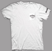 Jack Daniel's White Short-Sleeve Pocket T-shirt