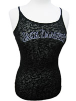 Jack Daniel's Woman's Black Burnout Tank Top