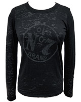 Jack Daniel's Black Long-Sleeve Burnout Shirt