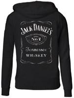 Jack Daniel's Women's Black Zip Front Hoodie