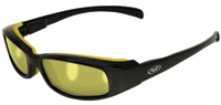 Global Vision Eyewear Bad Attitude Sunglasses Black Frame/Yellow Rubber/Yellow Lens