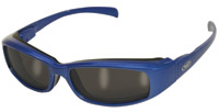 Global Vision Eyewear Bad Attitude CF2 Sunglasses Blue Frame/Black Rubber/Smoke Lens