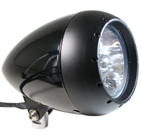 Rivera Primo 5-3/4″ Black Alien Headlight