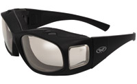 Global Vision Eyewear Caps Fitover Sunglasses with Clear Anti-Fog Lenses