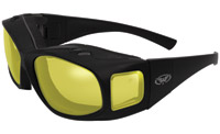 Global Vision Eyewear Caps Fitover Sunglasses with Yellow Anti-Fog Lenses