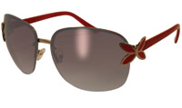 Global Vision Eyewear Butterfly 2 Red Framed Sunglasses