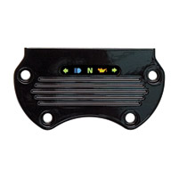 Yankee Engineuity Flat Tach and Speedo Black Mount with LED Light Bar and Harness