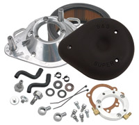 S&S Cycle Black Air Cleaner Kit for Stock CV/EFI Sportster Models