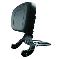 Kuryakyn Black Multi-Purpose Driver and Passenger Backrest
