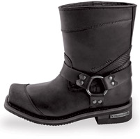 Milwaukee Motorcycle Clothing Co. Men's Black Stroker Riding Boots