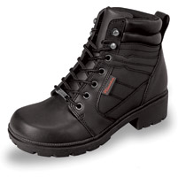 Milwaukee Motorcycle Clothing Co. Women's Rally Black Leather Boots