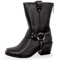 Milwaukee Motorcycle Clothing Co. Women's Black Riding Gypsy Boots