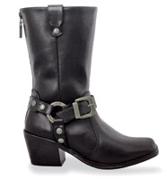 Milwaukee Motorcycle Clothing Co. Women's Black Reina Riding Boots