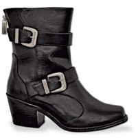 Milwaukee Motorcycle Clothing Co. Women's Black Fallyn Riding Boots
