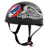 Grateful Dead Black Flying Steal Your Face Half Helmet