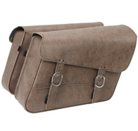 Willie & Max Double Down Brown Large Slant Saddlebags