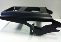 Motherwell Gloss Black Locking 2-Up Detachable Tour-Pak Mounting Rack