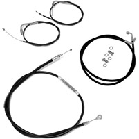 LA Choppers Black Vinyl/Stainless Handlebar Cable and Brake Line Kit