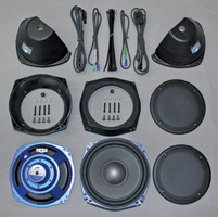 J&M ROKKER XT Dual 7-1/4″ Harley Saddlebag Sub-Woofer Speaker Kit